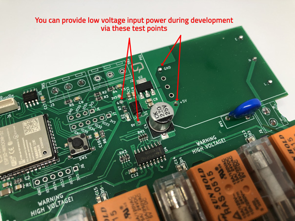 Ext power test points