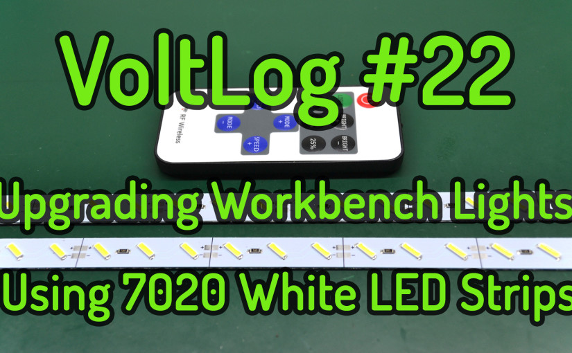 Upgrading Workbench Lights Using 7020 White LED Strips