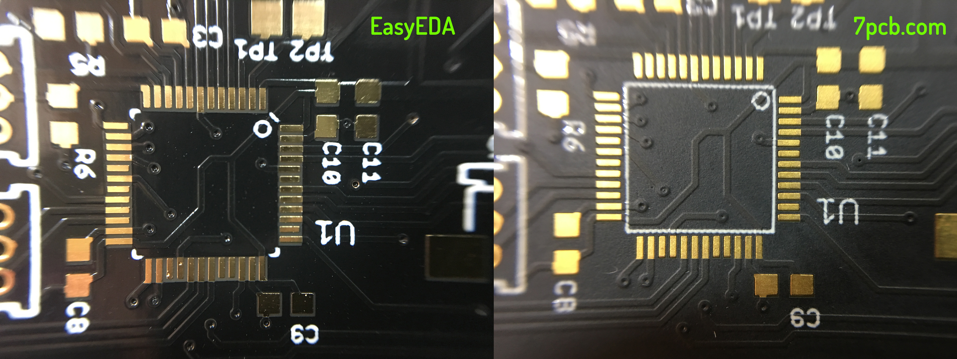 Easyeda Voltlog Is An Amazing Free Online Circuit Simulator Which Very The Soldermask Alignment Not Perfect But Certainly Acceptable And Comparable Between Two Its Shifted On Same Axis Both Panels